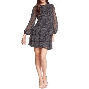 Bardot Elaina Tiered Ruffle Speckled Mini Dress